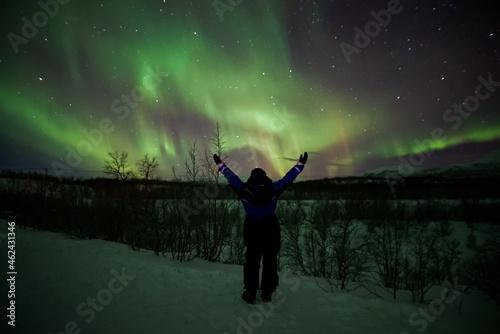 Fotografie, Obraz aurora borealis northern lights lapland
