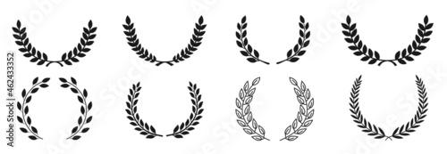 Fotografia Circular laurel foliate vector icon