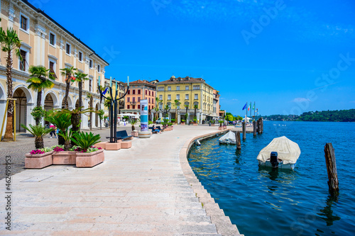 Fototapeta Salò - beautiful village at lake Garda, Italy - touristic travel destination