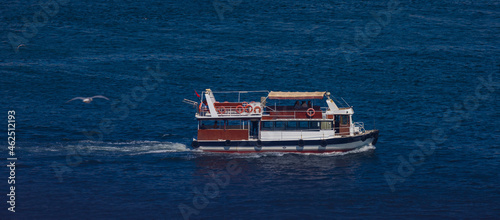 Canvastavla Ships and yachts in the waters of the Bosphorus and the Sea of Marmara near Is