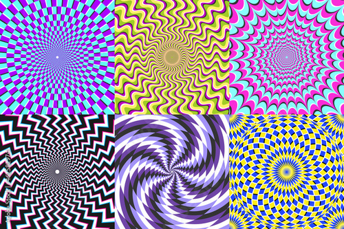 Canvas Print Psychedelic spiral