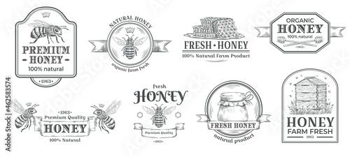 Canvas Print Honey farm badge