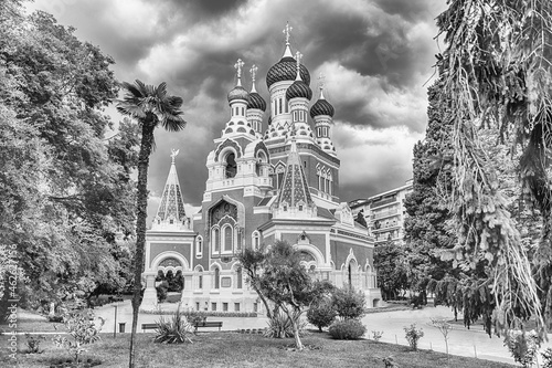 Canvas Print The iconic St Nicholas Orthodox Cathedral, Nice, Cote d'Azur, France