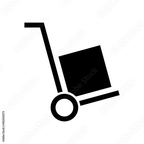 Fotografia, Obraz A handcart with a box vector icon