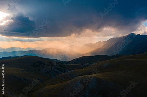 Fotografie, Tablou Sunset in Abruzzo, Mountain Gran Sasso