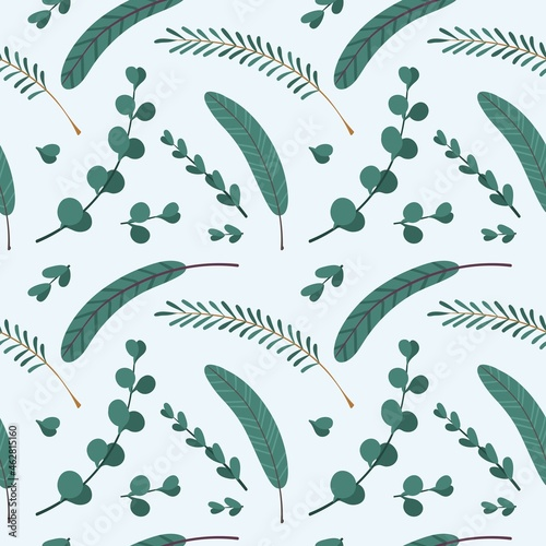 Foto Christmas seamless pattern with spruce branches