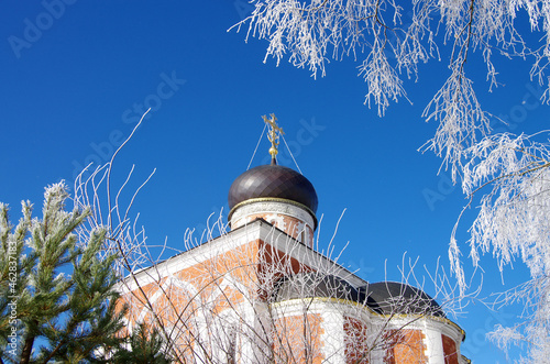 Mozhaisk, Russia - February, 2021: St. Peter and St. Paul Church