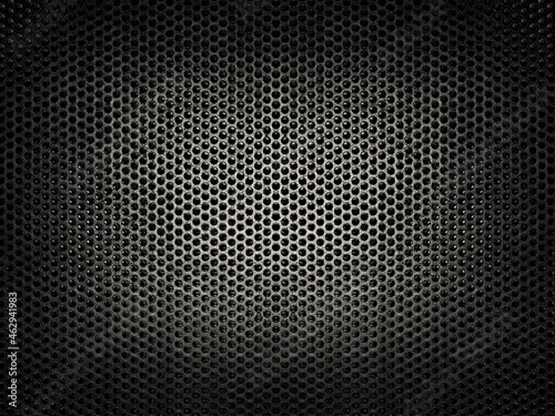 Photo Black Iron Grill with mesh backing