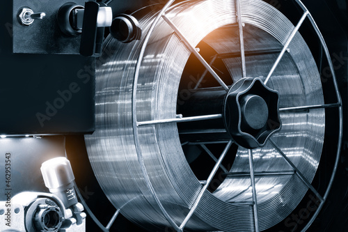 Obraz na plátně Metalworking industry concept, industrial equipment for cutting and welding meta