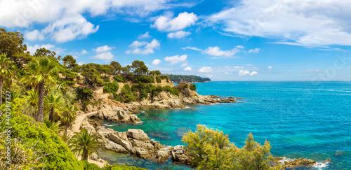 Canvastavla Costa Brava beach, ..Catalonia, Spain