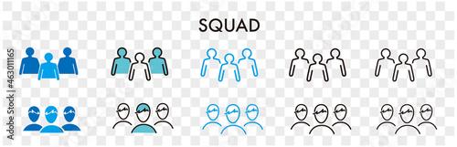 Fototapeta squad line icon vector illustration