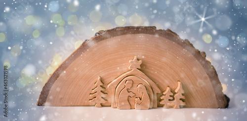 Fotografie, Obraz Christmas nativity scene of Jesus birth.