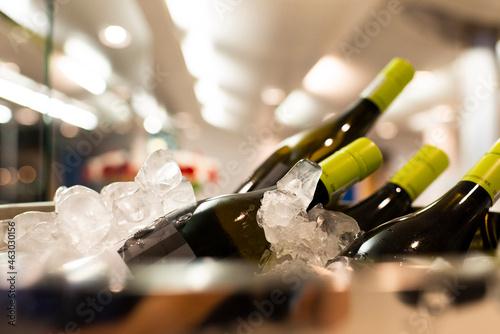 Fotografija Close-up eines gefüllten Weinkühlers auf einem Event