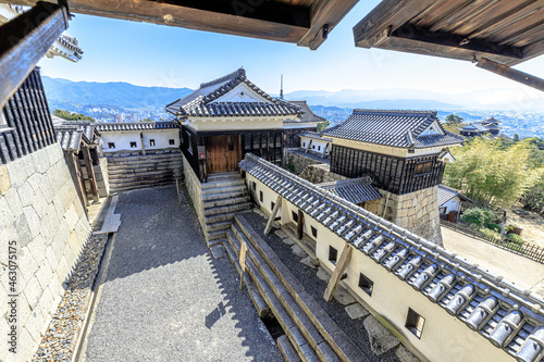 Photographie 秋の松山城から見た景色 愛媛県松山市 Matsuyama Castle in autumn  Ehime-ken Matsuyama city