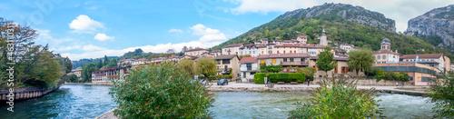 Fotografie, Obraz Pont-en-Royans et ses maisons suspendues