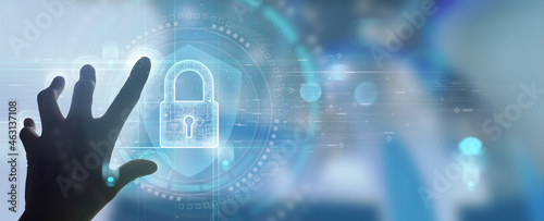 Fotografia Cyber security and data protection