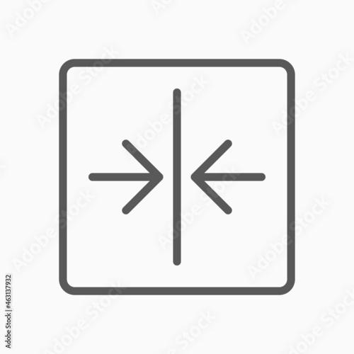 Canvastavla arrow shrink icon, arrow vector