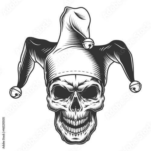 Obraz na plátne Skull in jester hat