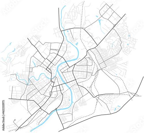 Fotografia Orel city map - town streets on the plan