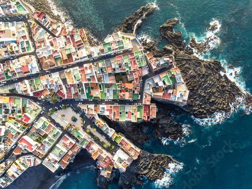 Canvastavla aerial view of punta brava in tenerife, canary islands