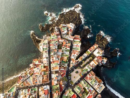 Fotografiet aerial view of punta brava in tenerife, canary islands