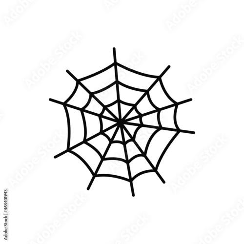 Slika na platnu Spider net, Halloween holiday symbol cobweb isolated thin line icon