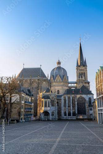 Canvas Aachener Dom bei Sonnenaufgang