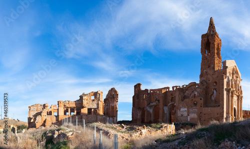 Fotografering Ghost town of Belchite ruined in battle during Spanish Civil War, Zaragoza