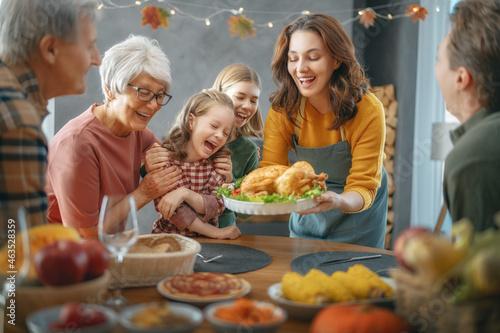 Obraz na plátně Thanksgiving Day, Autumn feast