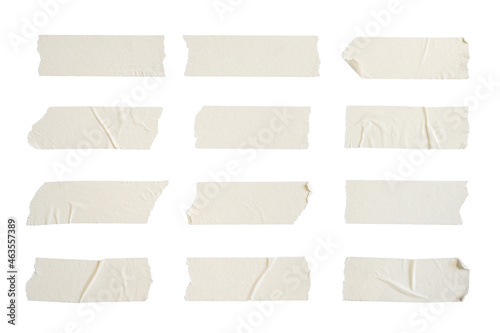 Foto Close up of adhesive tape wrinkle set on white background
