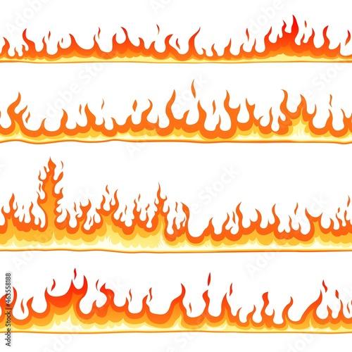 Fotografie, Obraz Fire seamless pattern