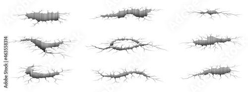 Fotografia, Obraz Earthquake cracks