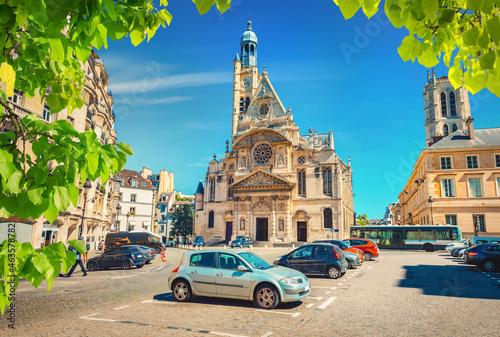 Billede på lærred Saint Etienne du Mont church