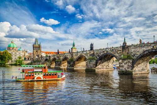 Tela Charles Bridge in Prague, Czech Republic