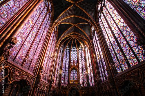 Obraz na plátně Paris (France) / Sainte Chapelle - Chapelle haute