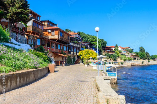Valokuva View of the embankment of the old town of Nessebar, Bulgaria