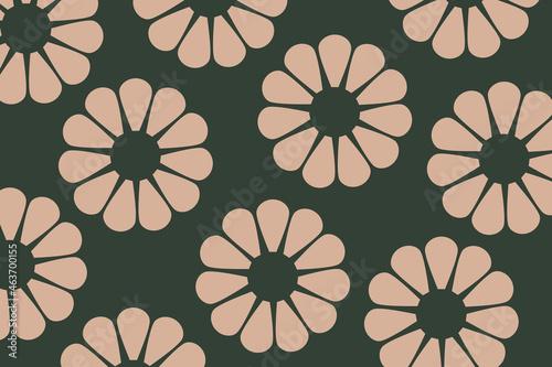 Kremowe kwiaty na zielonym tle