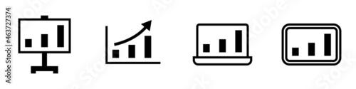 Tela icono de diagrama de estadísticas