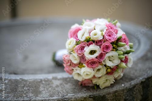 Close-up shot of a beautiful bridal bouquet Fototapet