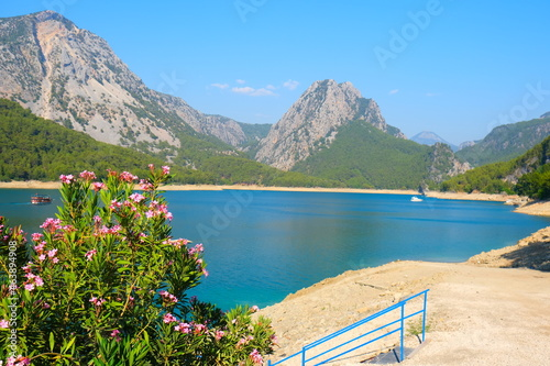 Fotografie, Obraz lake and mountains in Turkey at Green Canyon of Side