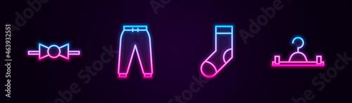 Fotografia Set line Bow tie, Sport pants, Socks and Hanger wardrobe