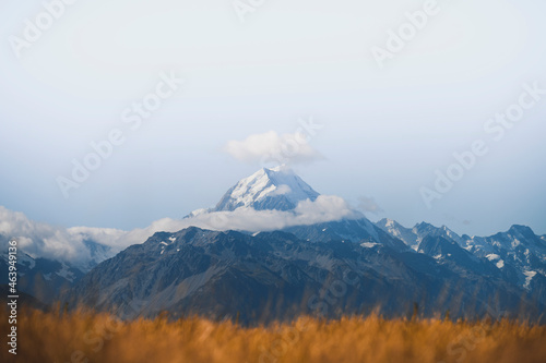 Beautiful view of Mount Cook, New Zealand