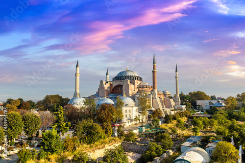 Canvastavla Hagia Sophia in Istanbul, Turkey