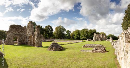 landscape image of Thetford Priory Fotobehang