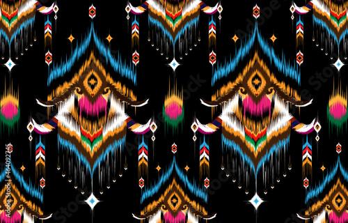 Valokuvatapetti Ikat geometric folklore ornament