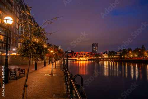 Murais de parede Dusk view of Castlefield - an inner city conservation area of Manchester in North West England