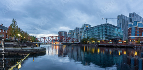 Fotografija Dusk view of Castlefield - an inner city conservation area of Manchester in North West England