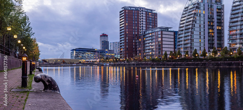 Slika na platnu Dusk view of Castlefield - an inner city conservation area of Manchester in North West England