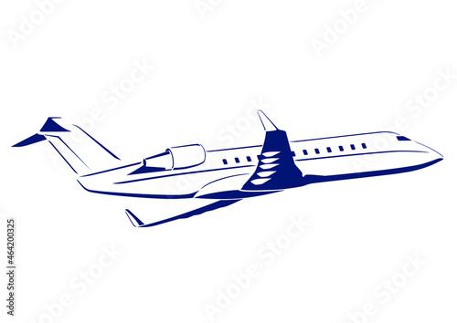 Tablou Canvas Executive long range business jet