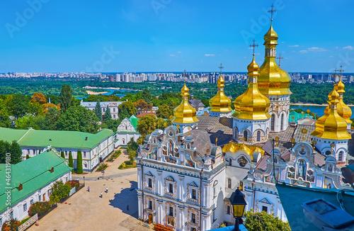 The golden domes of Kyiv, Lavra Monastery, Ukraine Fototapet